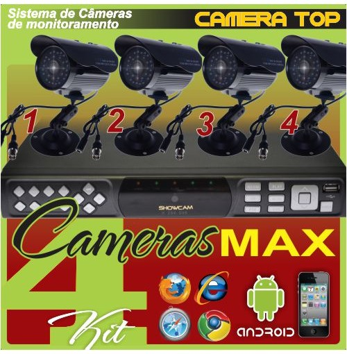 Kit DVR + 4 Black Cam Max